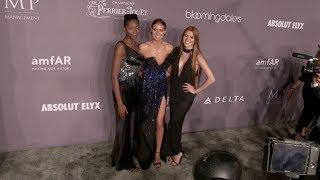 Heidi Klum, Toni Loba and Klaudia Giez at the 2018 amfAR Gala New York at Cipriani Wall Street