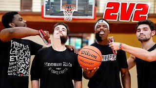 Losers Shave Beards! Intense 2v2 Basketball Game!