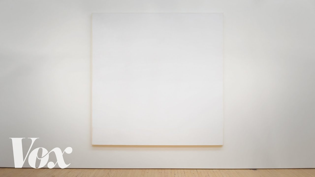 why these all white paintings are in museums and mine aren