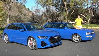 2021 Audi RS6 Avant vs 1994 Audi RS2 Avant: 25 Years of Fast Wagons