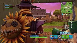 Fortnite Trolling with the Hay Man skin in Fatal Fields