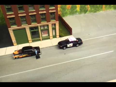 Ho Scale 1 87 Police Car With Led Lighting Youtube