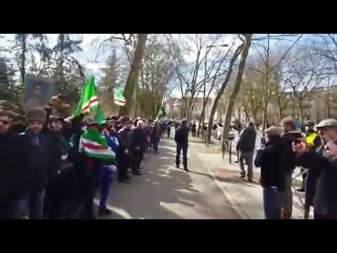 Страсбург 23.02.2017.Вайнахский пикет у здания Совета Европа.
