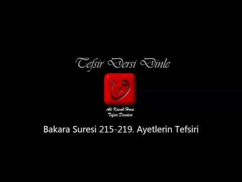 Ali Küçük - Bakara Suresi 215-218. Ayetler Tefsiri / MP3 - Ses