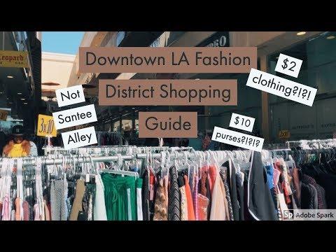 Downtown LA Fashion District Shopping Guide (Not Santee Alley)