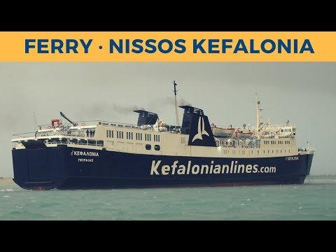 Arrival, loading & departure of ferry NISSOS KEFALONIA in Kyllini (Kefalonian Lines)