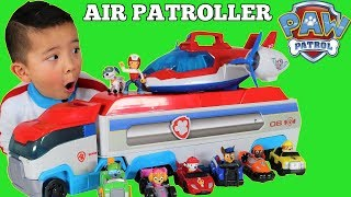 Paw Patrol AIR PATROLLER Toy Unboxing With Ryder Chase Marshall Skye Rubble Zuma Rocky Ckn Toys
