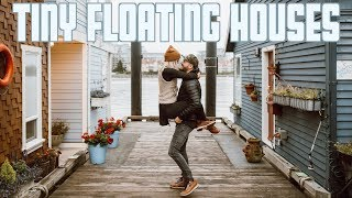 Tiny Floating House In A Floating Neighborhood | Tiny Home Living | Victoria British Columbia