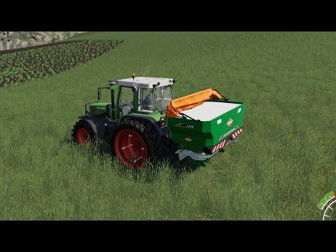 Fertilizing and New Lime Machine / Harversting Soybeans / Felsbrunn / Farming Simulator 19/EPISODE 5 |