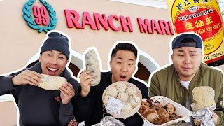 HOW GOOD IS THE FOOD AT 99 RANCH?! EATING 30 DISHES // Fung Bros