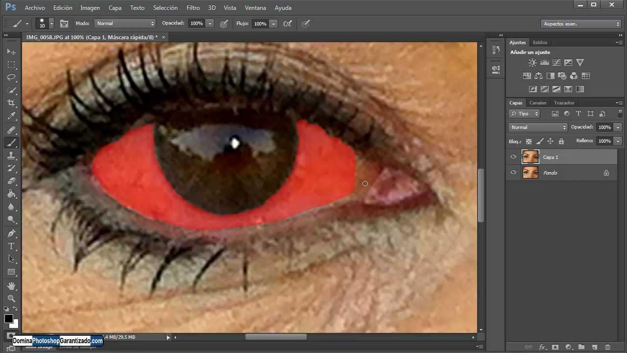 Rojos drogado como los como poner ojos
