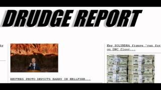 Drudge Report Shows Hell Based Subliminal Message