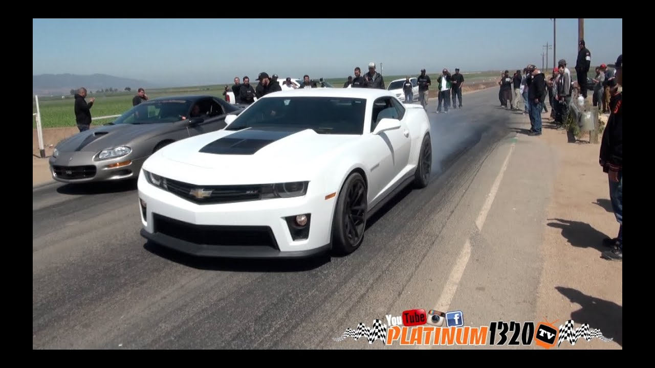 Nitrous Camaro Vs Zl1 Camaro Youtube
