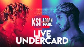 KSI vs LOGAN PAUL 2 | LIVE OFFICIAL UNDERCARD STREAM  🥊