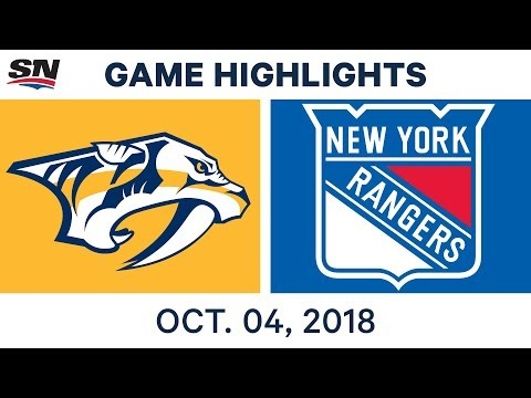 NHL Highlights | Predators vs. Rangers - Oct. 4, 2018