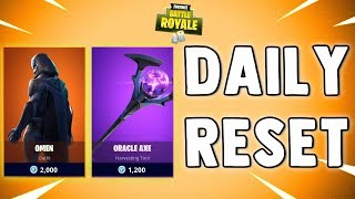 NEW OMEN SKIN - ORACLE AXE - Fortnite Daily Reset - NEW Items in Item Shop
