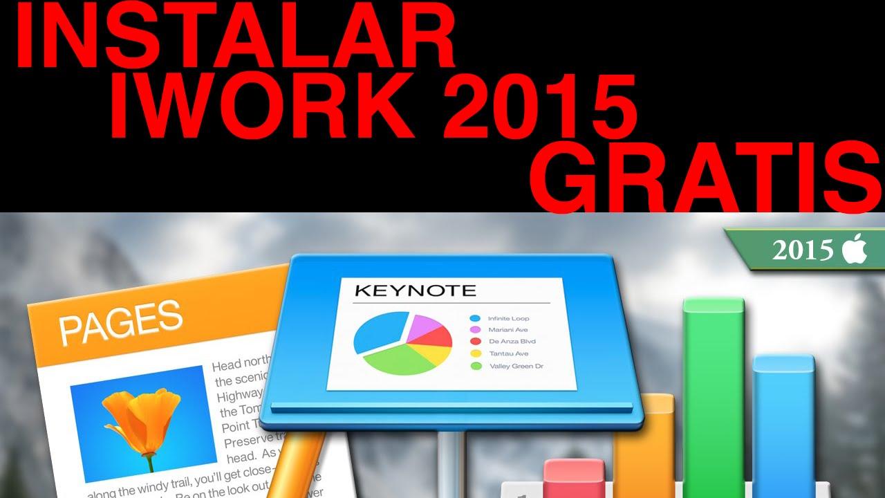 iWORK 2015 TOTALMENTE GRATIS