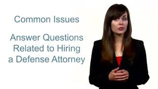 Questions to Ask When Hiring a Criminal Defense Attorney