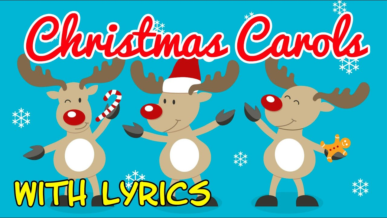 christmas carols for children with lyrics christmas songs for kids with lyrics youtube
