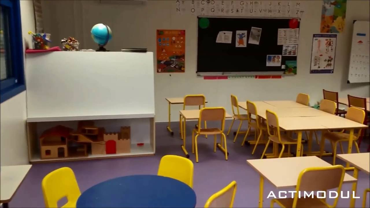 visite d 39 une salle de classe modulaire de l 39 cole maternelle de bas en basset en haute loire. Black Bedroom Furniture Sets. Home Design Ideas