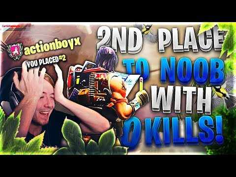 WORST 2ND PLACE FAIL ON FORTNITE! *0 KILL NOOB OUTPLAYED ME*