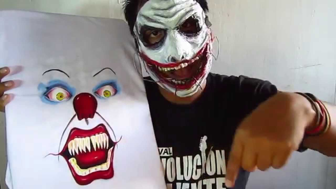 DIY - Como pintar tu camiseta | eso el payaso asesino - YouTube