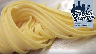 Luke Holder makes tagliatelle pasta