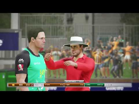 Perth Scorchers vs Melbourne Stars - BBL 07 - Ashes Cricket PS4 Gameplay