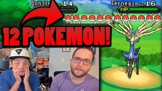 BROKEN 12 POKEMON BATTLE?   Pokemon X & Y Randomizer Egglocke Co-Op   #9