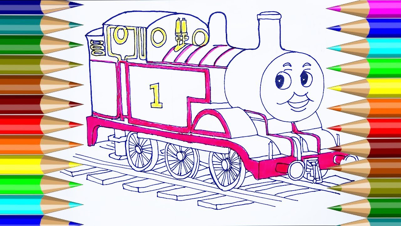 Thomas Friends Coloring Pages How To Draw Thomas Friends