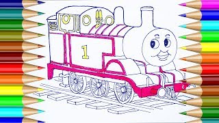 Thomas & Friends Coloring pages | How to Draw Thomas & Friends Coloring Pages for Kids CP 4K