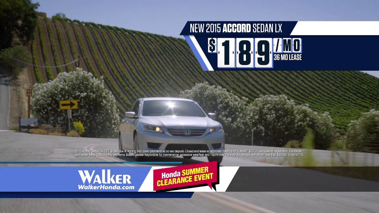 walker honda it is the best time to buy during honda 39 s summer clearance events youtube. Black Bedroom Furniture Sets. Home Design Ideas