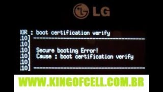 LG D295F ERRO DE BOOT (WRITE LOADER)