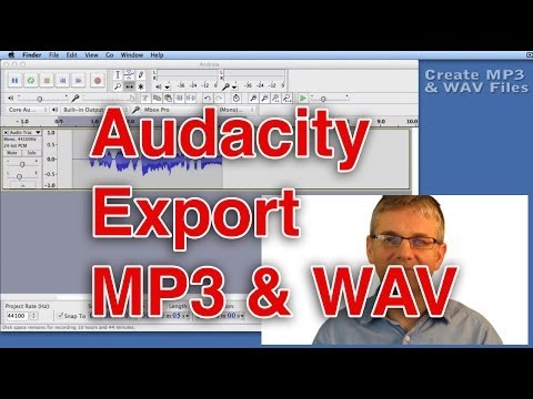 Audacity Tutorial Saving an MP3
