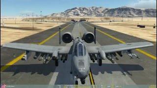 A10-C DCS World Nevada (краткий курс обучения: запуск, взлёт, боевое применение, посадка)