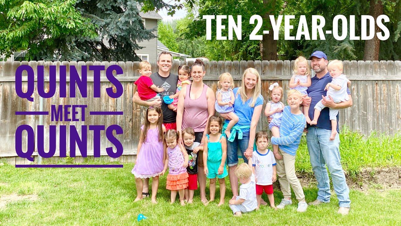 Quints Meet Quints - Ten Energetic Toddlers