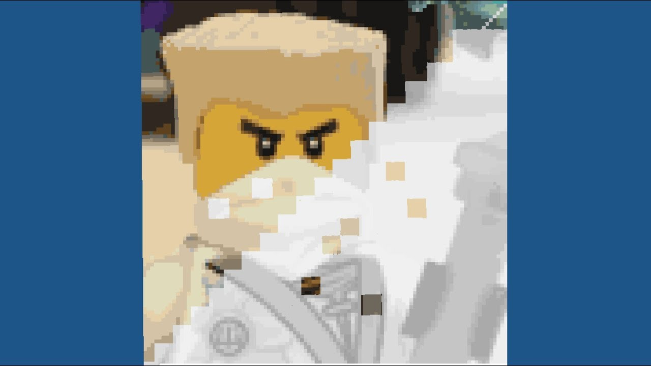 Ninjago Pixel Art Lego Ninjago Zane Fast Motion Video
