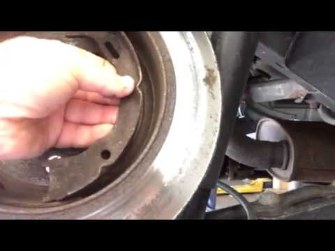 Parking Brake Or Emergency Brake Shoe Problems Youtube