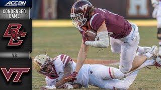 Boston College vs. Virginia Tech Condensed Game | 2018 ACC Football