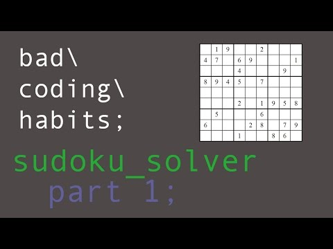 Coding a Sudoku Solver in C - Part 1