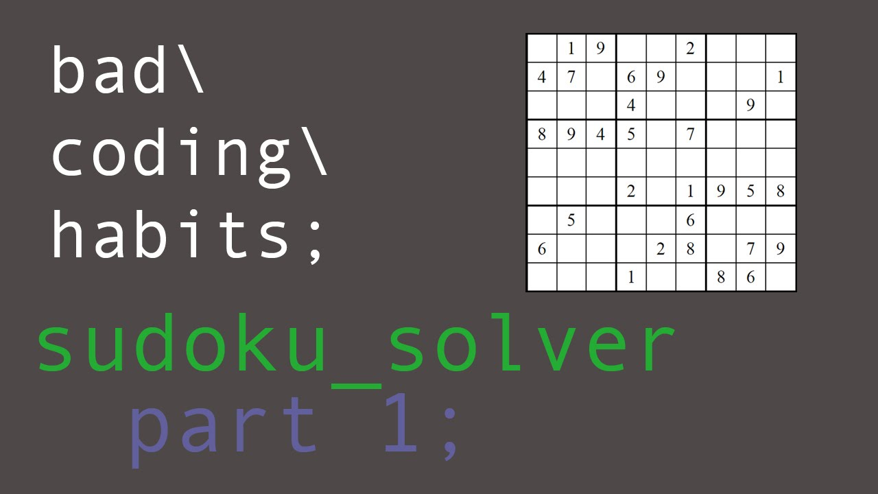 coding a sudoku solver in c part 1 youtube