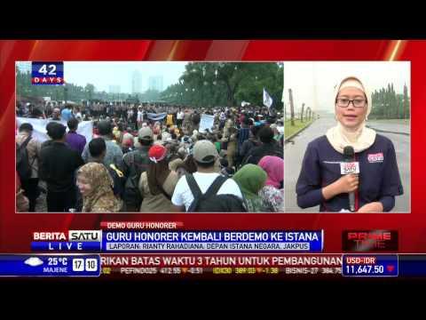 Pantauan Langsung Demo Guru Honorer di Monas