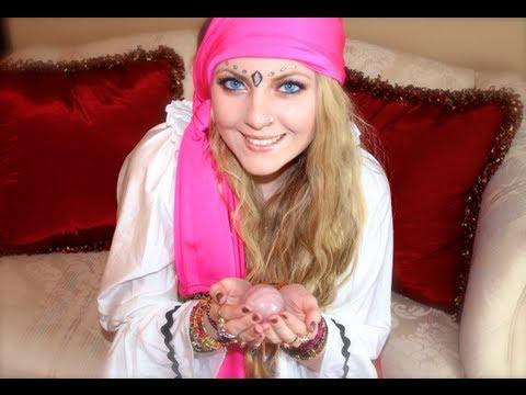 Gypsy Fortune Teller { Halloween Tutorial } - YouTube