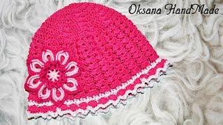 Панамка крючком, вязание для начинающих. Hat crochet