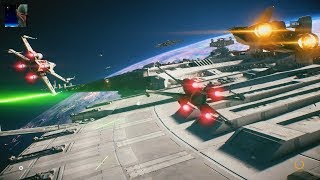 Star Wars Battlefront II Beta - Starfighter Assault Gameplay PS4 60fps (No Commentary)