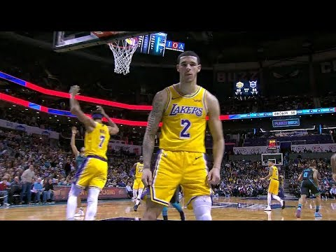Lonzo Ball Stares Down the Cameraman After Dunk - Lakers vs Hornets | Dec 15, 2018