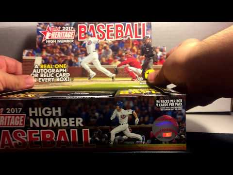 2017 Topps Heritage High Number Hobby Unboxing - YANKEES GAME-USED RELIC! Part 1
