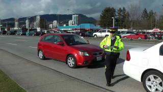 Coquitlam RCMP Cellphone & Seat Belt Check 22/02/2012
