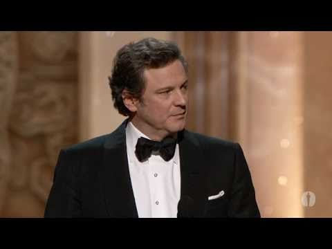 Colin Firth winning Best Actor