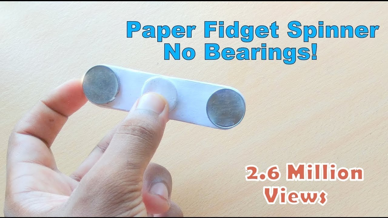 How to make a fidget spinner with household items without bearings
